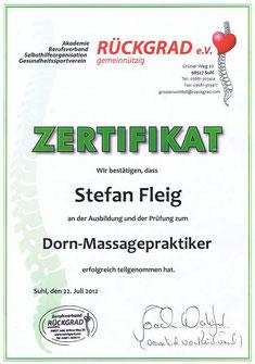 Dorn Methode, Dorn Massagepraktiker, Stefan Fleig, Zurück zur Natur, Die Rückenwerkstatt