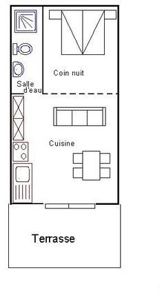 Plan Chambre 280601 3 épis rez de chaussé