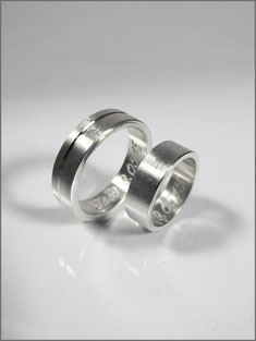 Wedding rings - Jacques & Brigitte - silver- Nelly Chemin