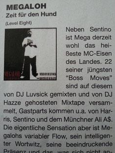 """DJ Luvsick & Megaloh - """"Zeit für den Hund"""" (Juice Mag Review ; März 2006)"""