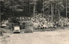 Alte Bilder der Freilichtbühne Bonbaden anno ...