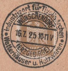 Bild: Wünschendorf Erzgebirge Wetterhäuschen