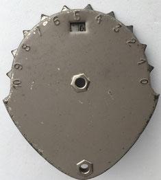 Contador de los eslabones de la cadena de una bicicleta, 8x10 cm, sin marca