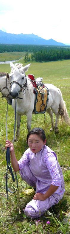 Femme mongole proche de Renchinlhumbe
