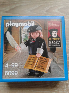 Foto einer Luther-Playmobil-Packung in alternativer Packung.