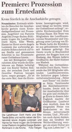 Kieler Nachrichten, 8.Oktober 2012