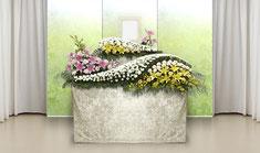 花の葬儀「家族葬オプション」の花祭壇