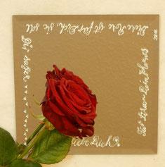 Rote Rosen sind der Klassiker.