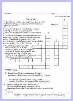 crucigramas infantiles nivel 2