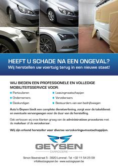 Dirk Van Bun Communicatie & Vormgeving - Grafische vormgeving - Grafisch ontwerp - reclame - publiciteit - Grafisch ontwerp - Lommel - Leaflet & Flyer Auto's Geysen