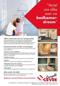Van Bun Communicatie & Vormgeving - Grafische vormgeving - Lommel - Advertentie - Cevek Badkamers