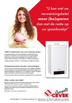 Van Bun Communicatie & Vormgeving - Grafische vormgeving - Lommel - Advertentie - Cevek Verwarming