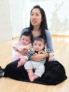 双子母サポーターのあさみちゃんも、抱っこエクササイズに負けなくなってきましたよー!