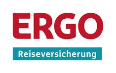 Logo der ERGO Reiseversicherung für die Reiseschutz-Absicherung von Stornokosten, Reiseabbruch, Corona, Impfunverträglichkeit für Urlaub in Deutschland
