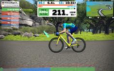 aus Anlass der Tour de France 2020 habe ich mein virtuelles Rad geb gefärbt