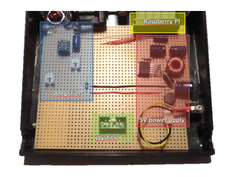 breadboard with electronic