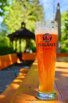Bière blanche - Biergarten de Munich