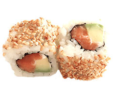 Alaska Rolle  Avocado & Lachs  mit Sesam
