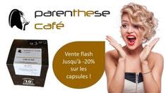 PROMO - Profitez jusqu'au 10 février 2018 d'une remise jusqu'à -20% sur une sélection de capsules http://www.parenthesecafe.fr/boutique/?refid=Eddy_Cleret