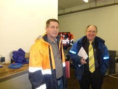 Foto des Umweltgutachters Herr Dr. Nehm und des Werkstattleiters der LINEG Herr Guido Schütz
