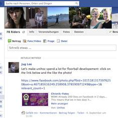 Riders-Gruppe auf Facebook