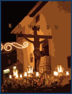 Procesión del domingo de fiestas de Galera