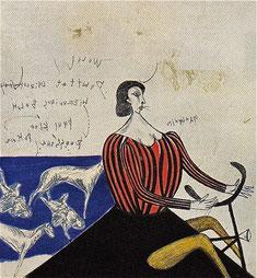 ロマンチックな風景 (1965)     ドライポイント・ルーレット・エッチング / 36.2x33.7cm