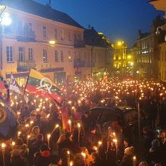 Марш неонацистов в Вильнюсе, 16 февраля, 2019 года / Neo-Nazi March in Vilnius, February 16, 2019