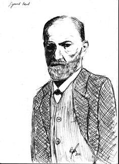 Sigmund Freud Zeichnung Raúl Soriano 2011