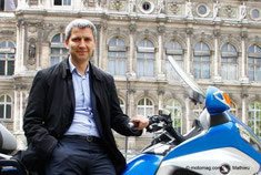 Christophe Najdovski, adjoint aux transports à la mairie de Paris (photo Motomag.com)