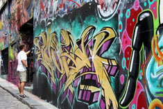 Street-Art in der Hosier Lane, Melbourne, Australien