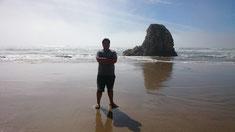 水泳部の遠征先、Pismo Beachにて