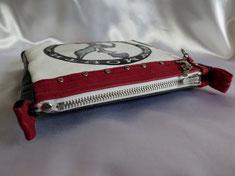 Clutch Schlüsseletui Portemonnaie Leder