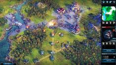 Szenenbild aus einer Schlacht auf Hex-Feldern