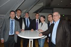 1. Vorsitzender Josef Schönhammer mit den Referenten