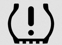 Warnsignal für zu niedrigen Luftdruck