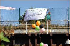 Grün statt Groth – das wird nun Geschichte. Das Berliner Abgeordnetenhaus hat der Bebauung des nördlichen Mauerparks zugestimmt. Foto: al