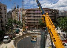Тоннель под Саграда Фамилия в Барселоне