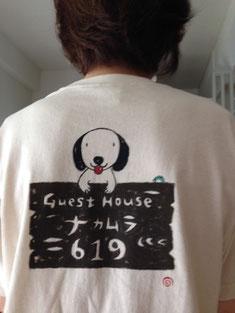 手書きのシャツ