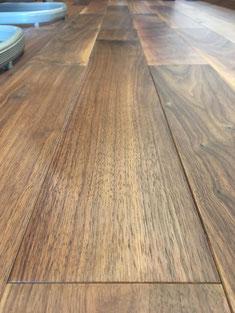 白濁した床 補修方法 andwood アンドウッド ウォールナット 仕上がり