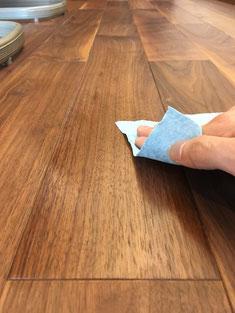 白濁した床 補修方法 andwood アンドウッド 磨き