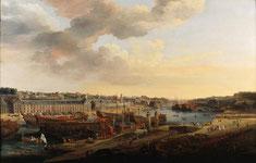 Louis-Nicolas Van Blarenberghe, Vue du port de Brest, 1774, huile sur toile. Collection musée des beaux-arts de Brest
