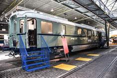 De tentoonstelling bijzondere restauratierijtuigen in Spoorwegmuseum wordt verlengd