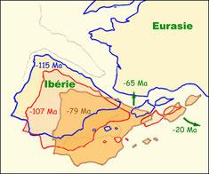 Rotation et convergence de la plaque ibérique vers la plaque eurasienne © OMP