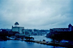Grenze Estland Russland Narva Iwangorod