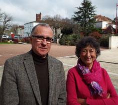 Jean-Luc Paltrie et Colette Mayet-Delbourg, organisateurs de la manifestation