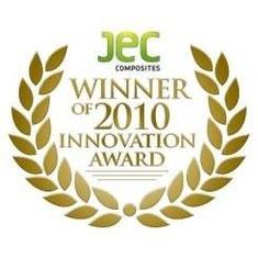 Die NANO-X GmbH erhält von JEC COMPOSITES den INNOVATION AWARD 2010 für ihre Entwicklung selbstreinigender Schichten.