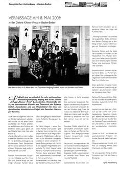 Pressebericht Galerie Kleiner Prinz