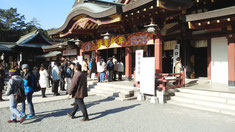 初詣に行った福山八幡宮