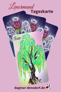Lenormandtageskarte 5 Baum
